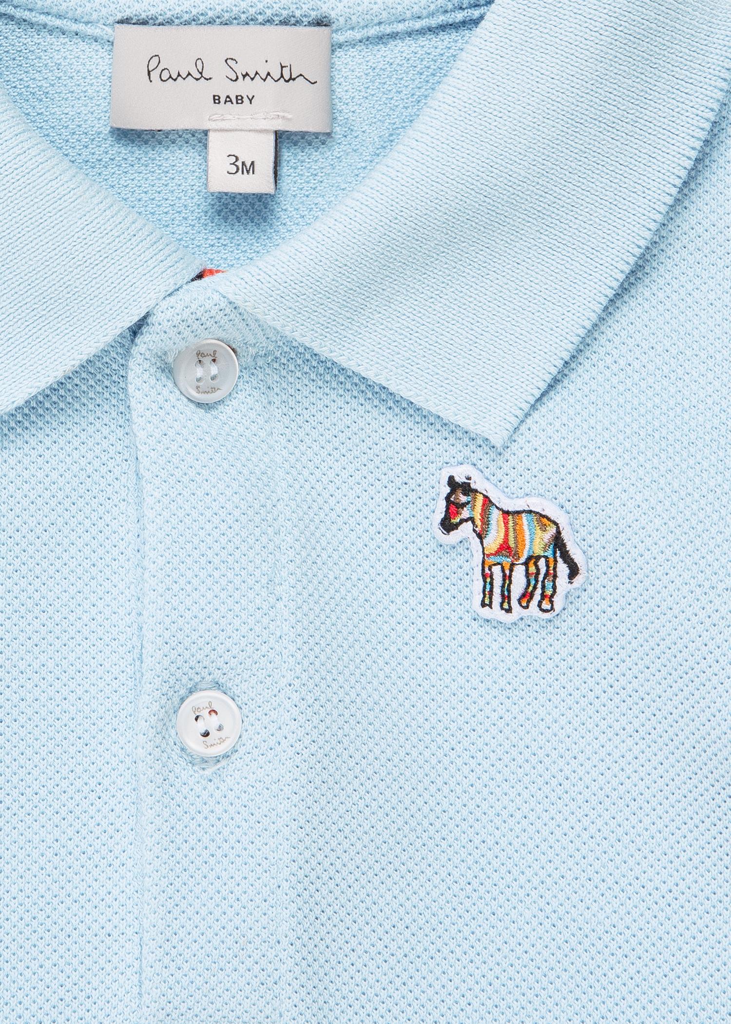 5292b93a6 Detail view - Baby Boys  Light Blue  Zebra  Logo Polo Shirt Paul Smith