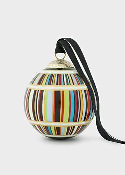 Boule De Noël 'Signature Stripe' En Porcelaine   Paul Smith Francais