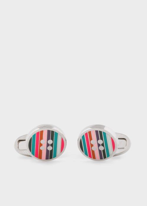 폴 스미스 커프링크스 Paul Smith Mens Striped Button Cufflinks