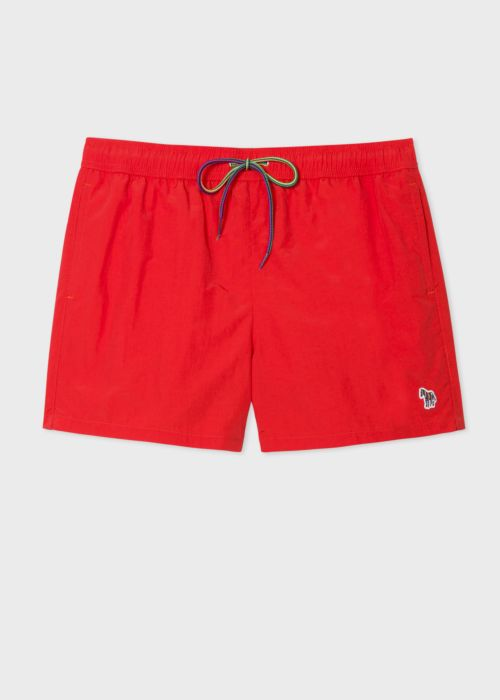 폴 스미스 수영복 팬츠 Paul Smith Mens Red Zebra Logo Swim Shorts