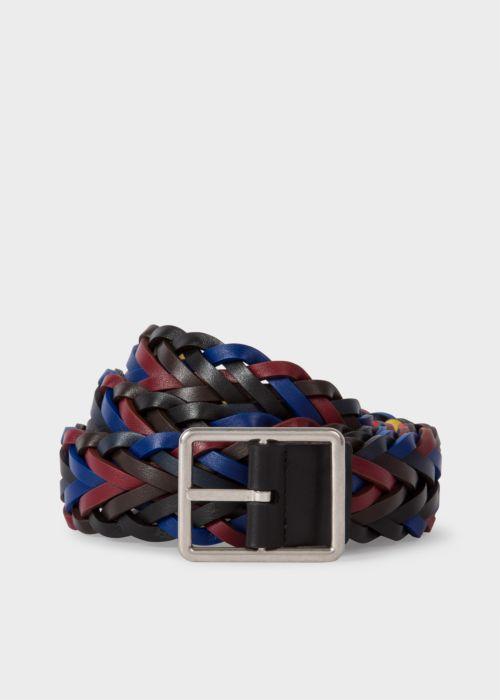 폴 스미스 Paul Smith Mens Reversible Plaited Leather Belt
