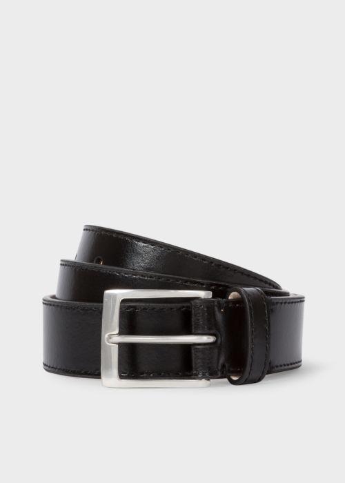 폴 스미스 Paul Smith Mens Black Leather Belt With Naked Lady Interior Print
