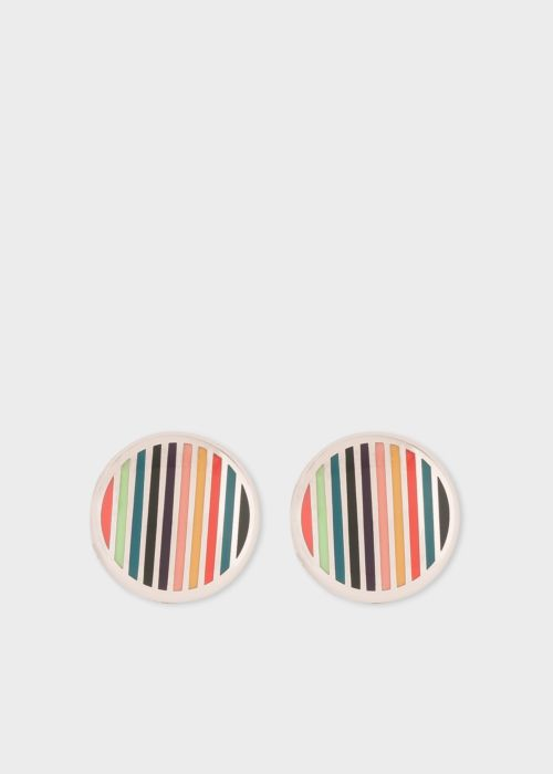 폴 스미스 버튼 커버 Paul Smith Mens Multi-Coloured Stripe Button Cover