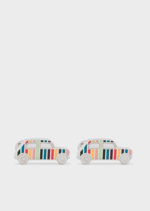 폴 스미스 커프링크스 Paul Smith Mens Artist Stripe Mini-Car Cufflinks