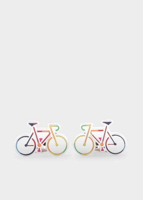 폴 스미스 커프링크스 Paul Smith Mens Multi-Colour Bicycle Cufflinks
