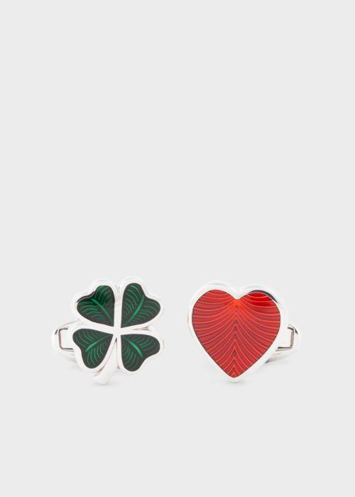 폴 스미스 커프링크스 Paul Smith Mens Love & Luck Cufflinks