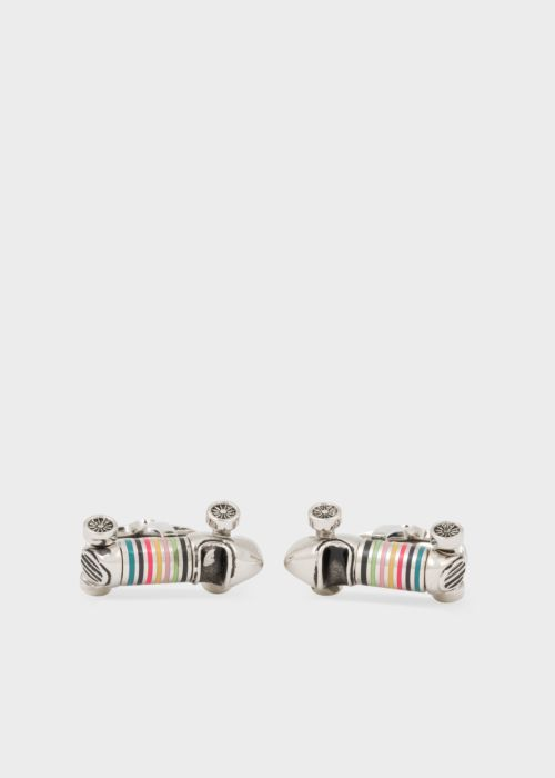 폴 스미스 커프링크스 Paul Smith Mens Artist Stripe Car Cufflinks