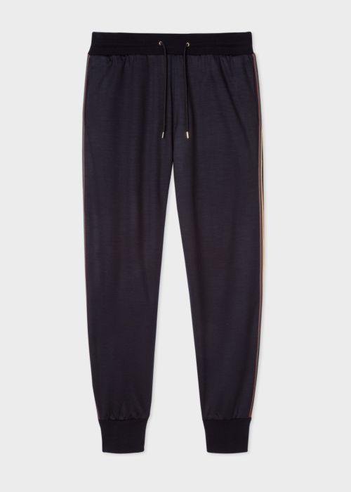 폴 스미스 스웻팬츠 Paul Smith Mens Dark Navy Artist Stripe Wool Sweatpants