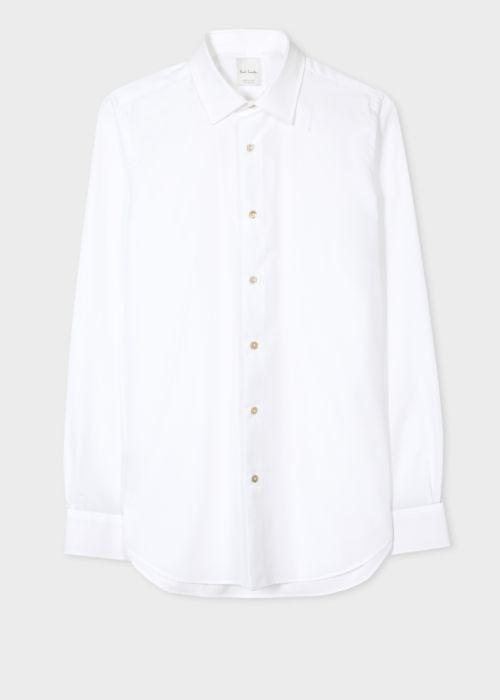 폴 스미스 셔츠 Paul Smith Mens Tailored-Fit White Cotton Artist Stripe Cuff Shirt