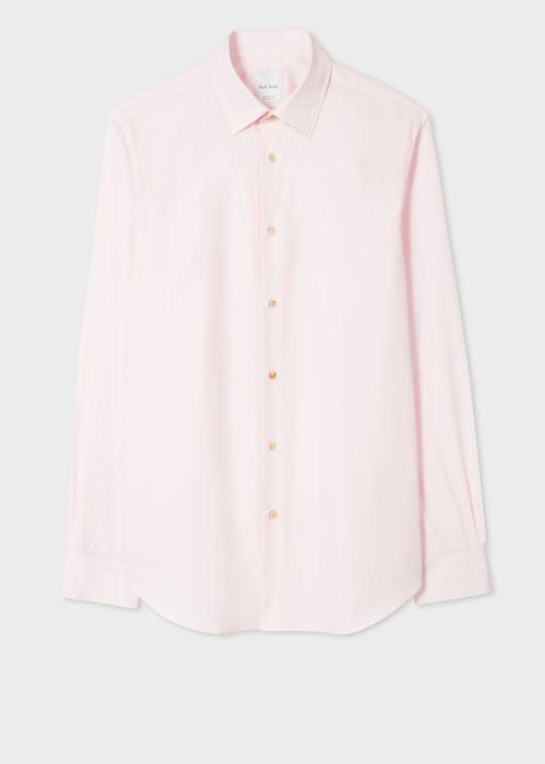 폴 스미스 셔츠 Paul Smith Mens Tailored-Fit Pink Cotton Artist Stripe Cuff Shirt