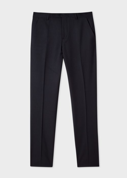 폴 스미스 바지 Paul Smith Mens Slim-Fit Black Wool A Suit To Travel In Trousers