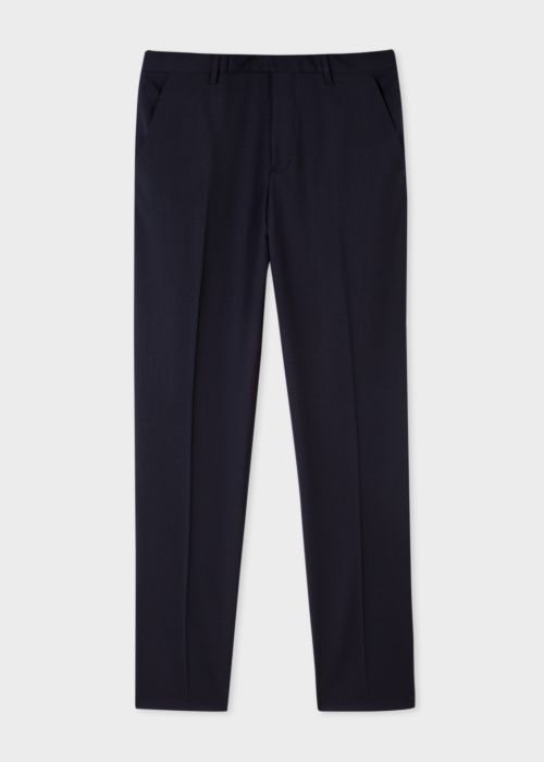 폴 스미스 바지 Paul Smith Mens Slim-Fit Navy Wool A Suit To Travel In Trousers