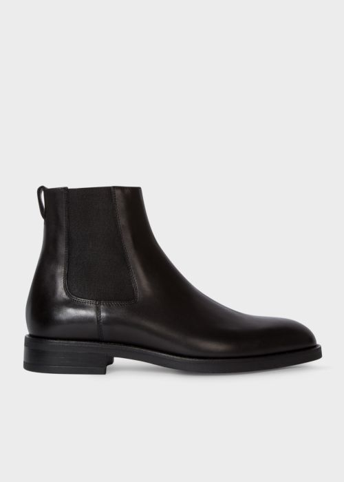 폴 스미스 Paul Smith Mens Black Smooth Calf Leather Canon Chelsea Boots