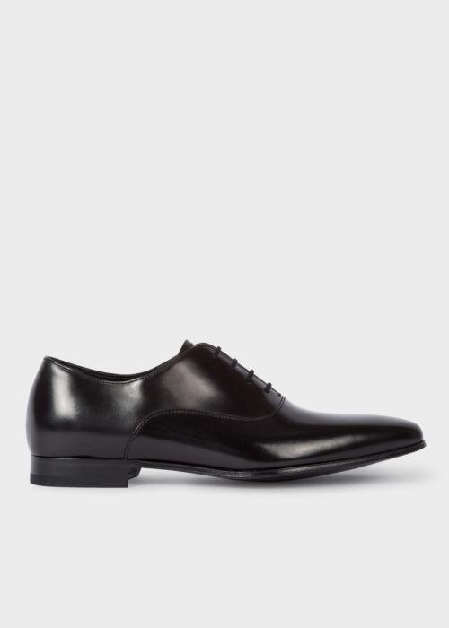 폴 스미스 Paul Smith Mens Black Leather Fleming Oxford Shoes