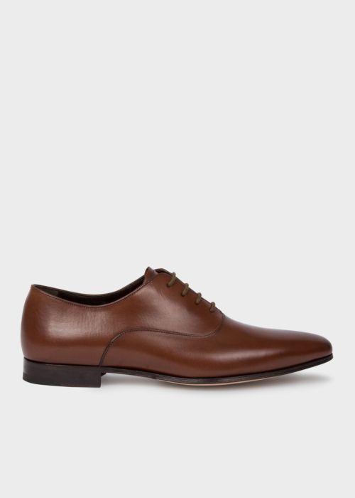 폴 스미스 Paul Smith Mens Dark Tan Fleming Calf Leather Oxford Shoes