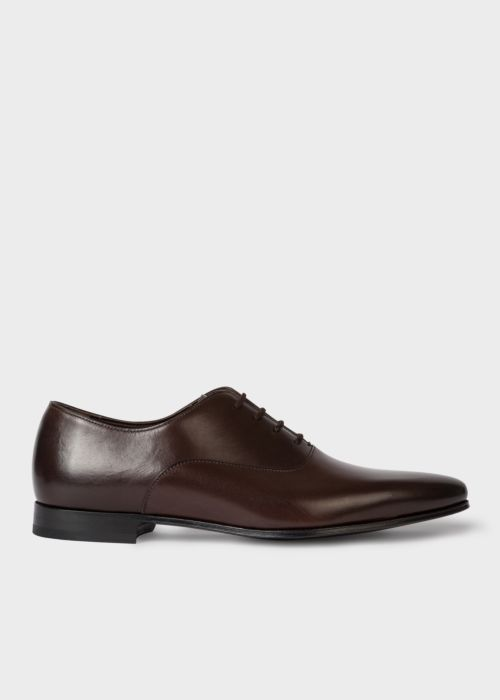 폴 스미스 Paul Smith Mens Dark Brown Calf Leather Fleming Oxford Shoes