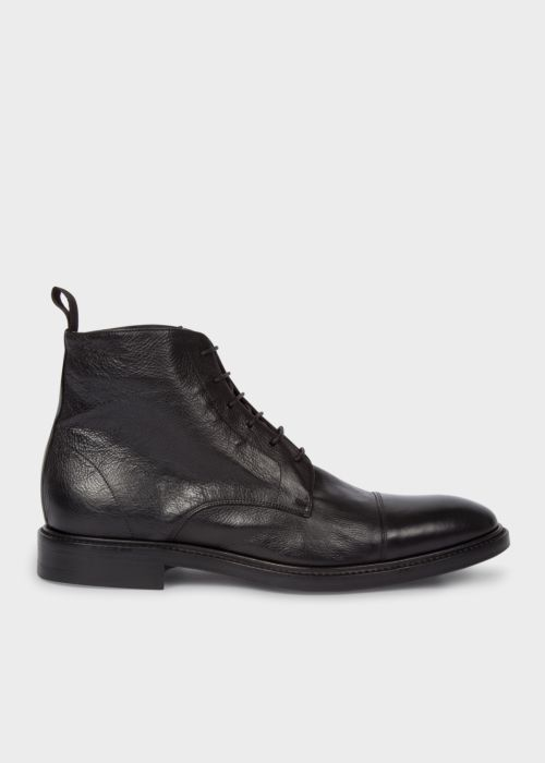 폴 스미스 Paul Smith Mens Dip-Dyed Black Calf Leather Jarman Boots