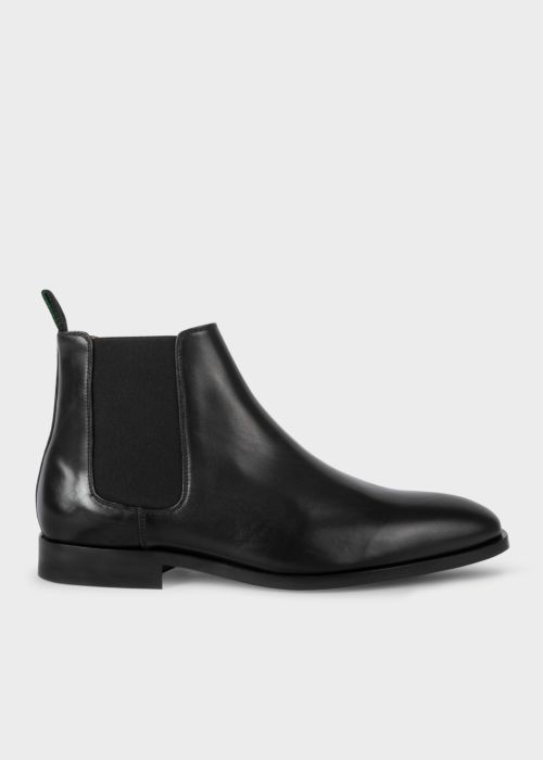 폴 스미스 Paul Smith Mens Black Smooth Calf Leather Gerald Chelsea Boots