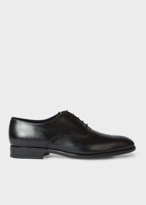 폴 스미스 Paul Smith Mens Black Leather Guy Oxford Shoes