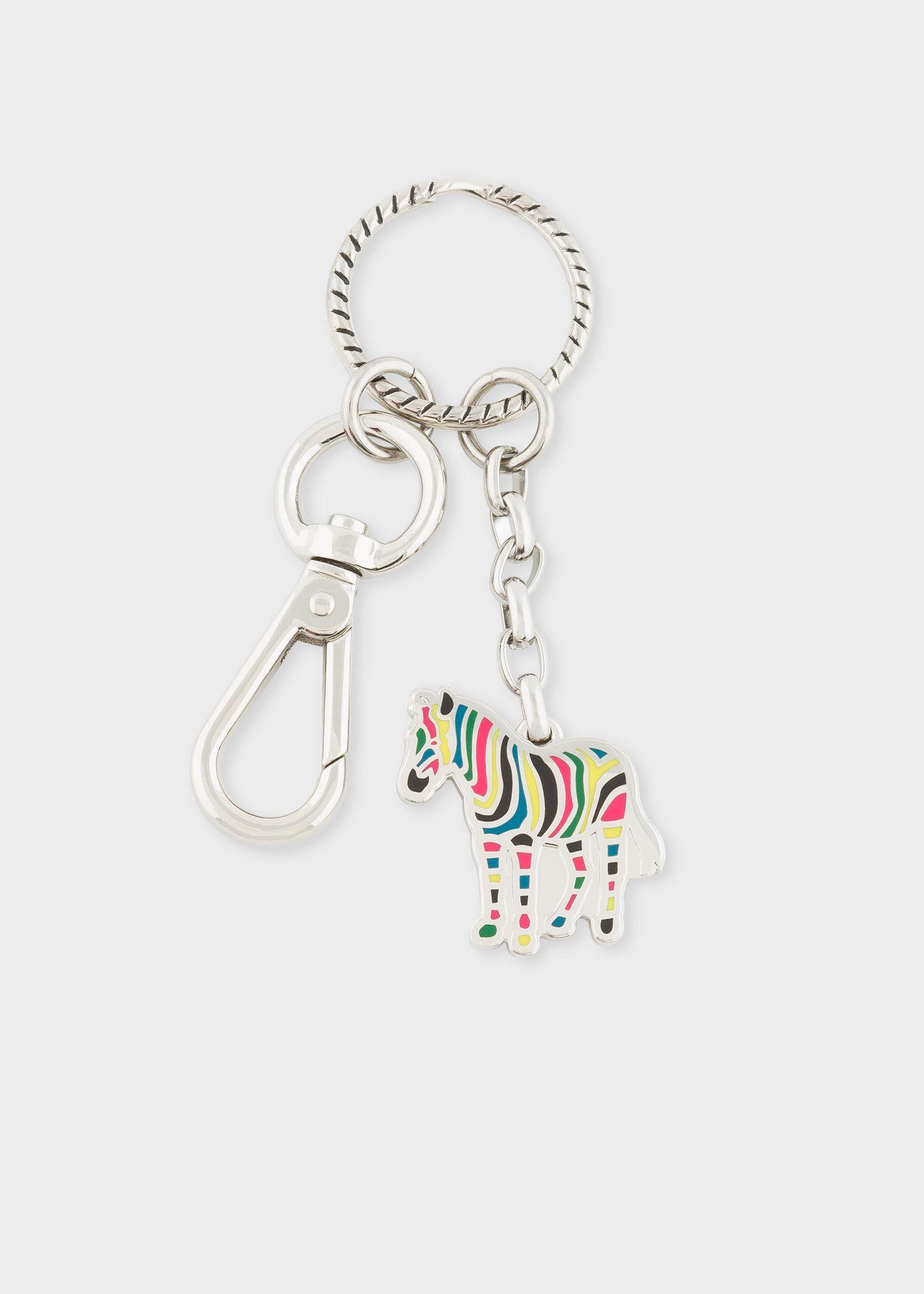 NEW Paul Smith Metal Zebra Keyring Key Chain $95 FREE Shipping