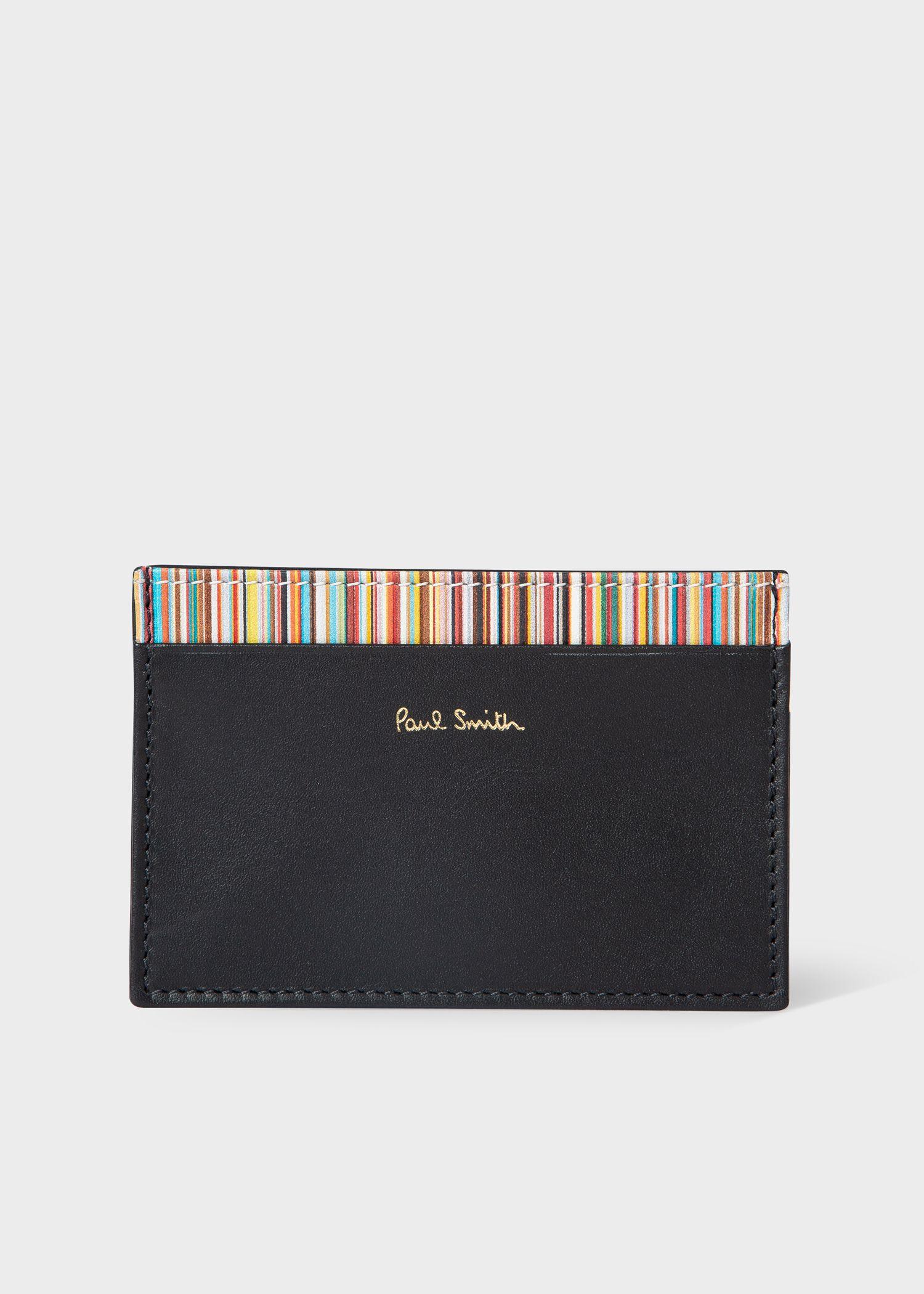 LEAS porte-cartes pour pi/èce didentit/é cuir v/éritable noir Card-Collection