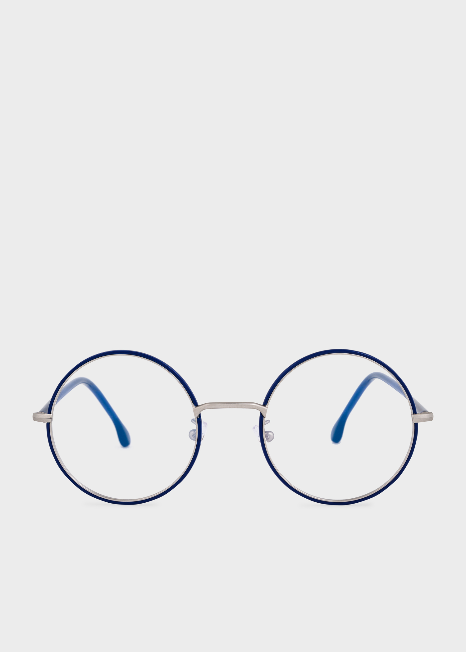 f7c37f0ff Front View - Paul Smith Deep Navy And Silver 'Alford' Spectacles