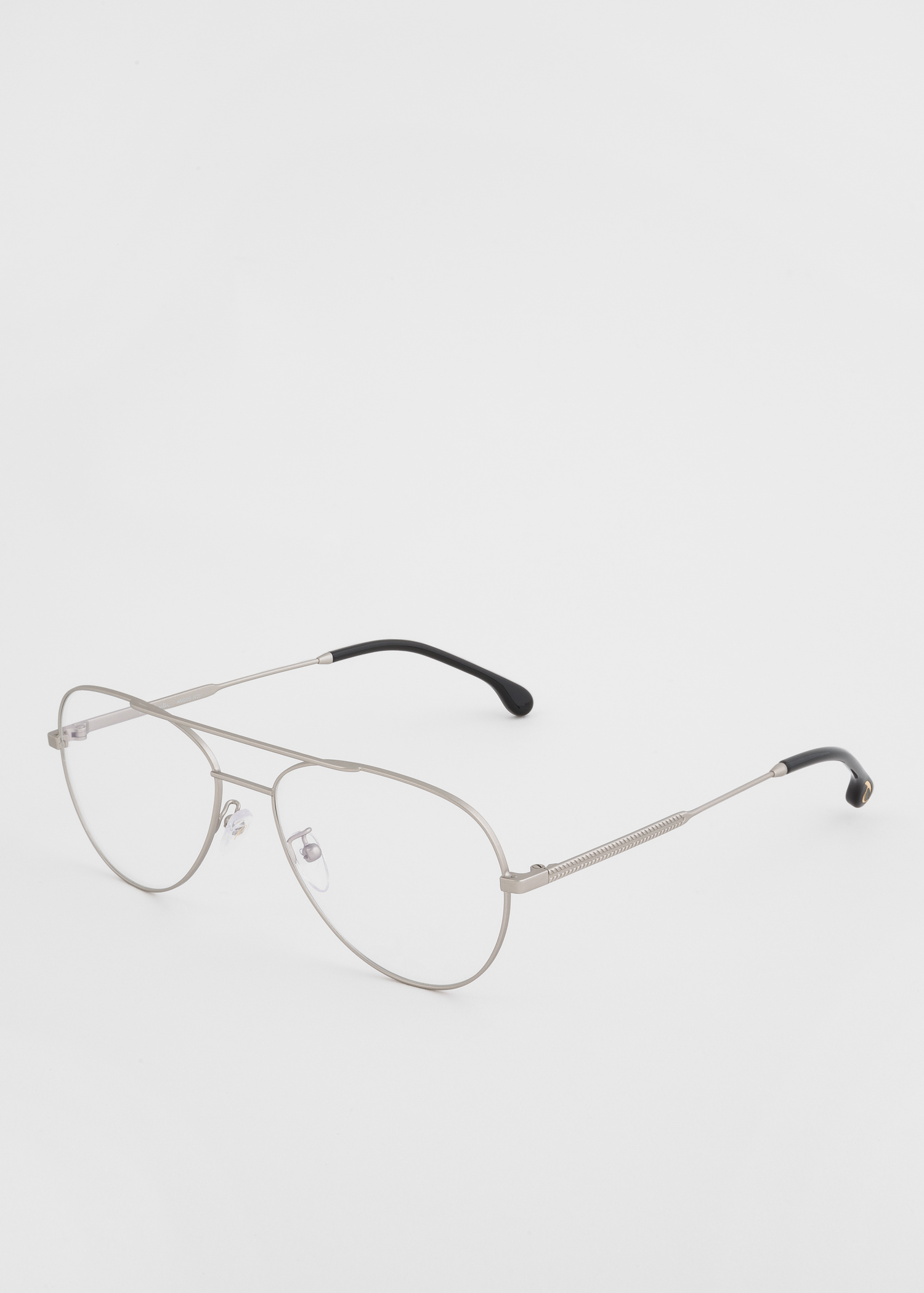 3963739faf Angled view - Paul Smith Matt Silver And Black Ink  Angus  Spectacles Paul  Smith