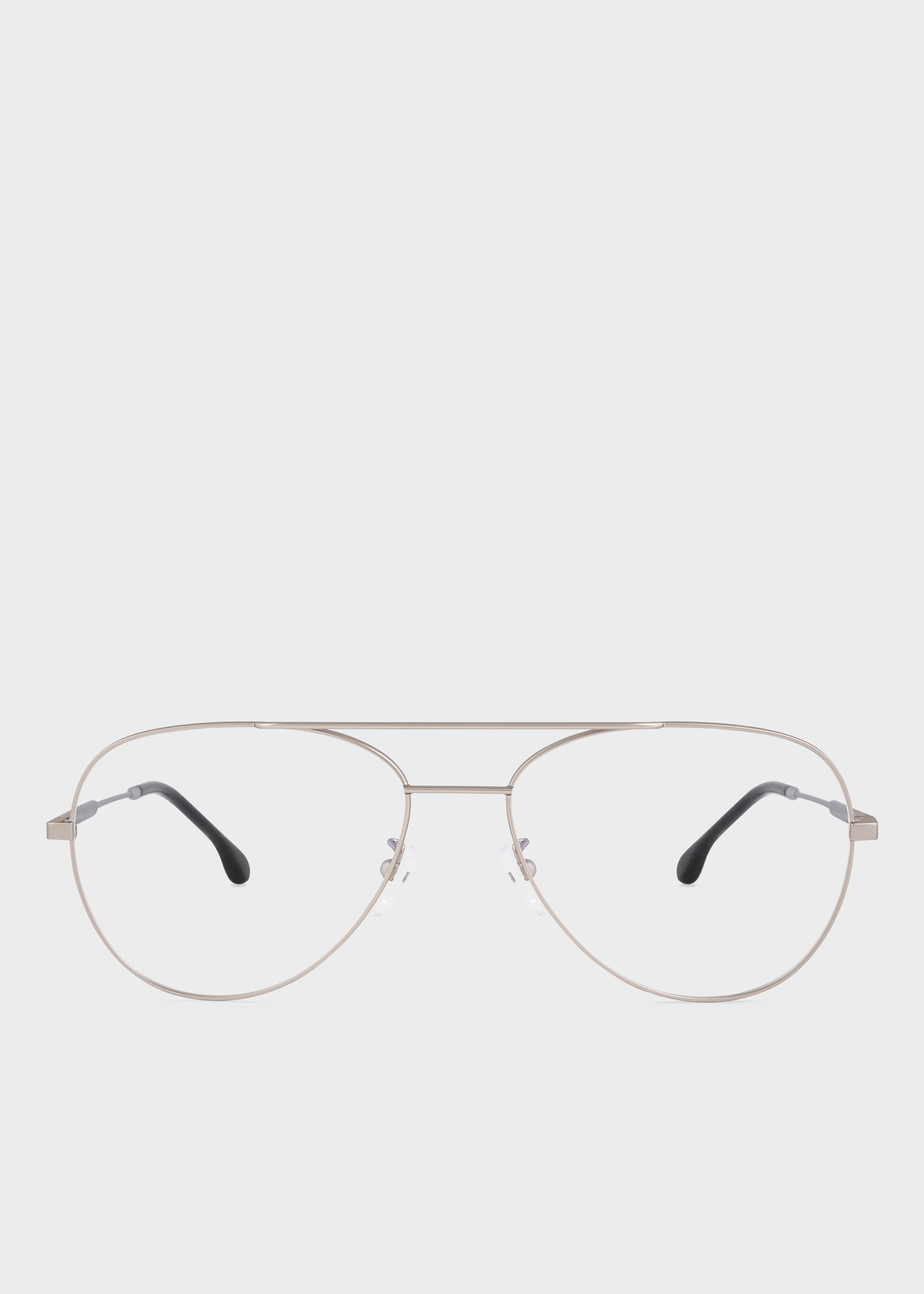1d7214f6f6 Front view - Paul Smith Matt Silver And Black Ink  Angus  Spectacles Paul  Smith