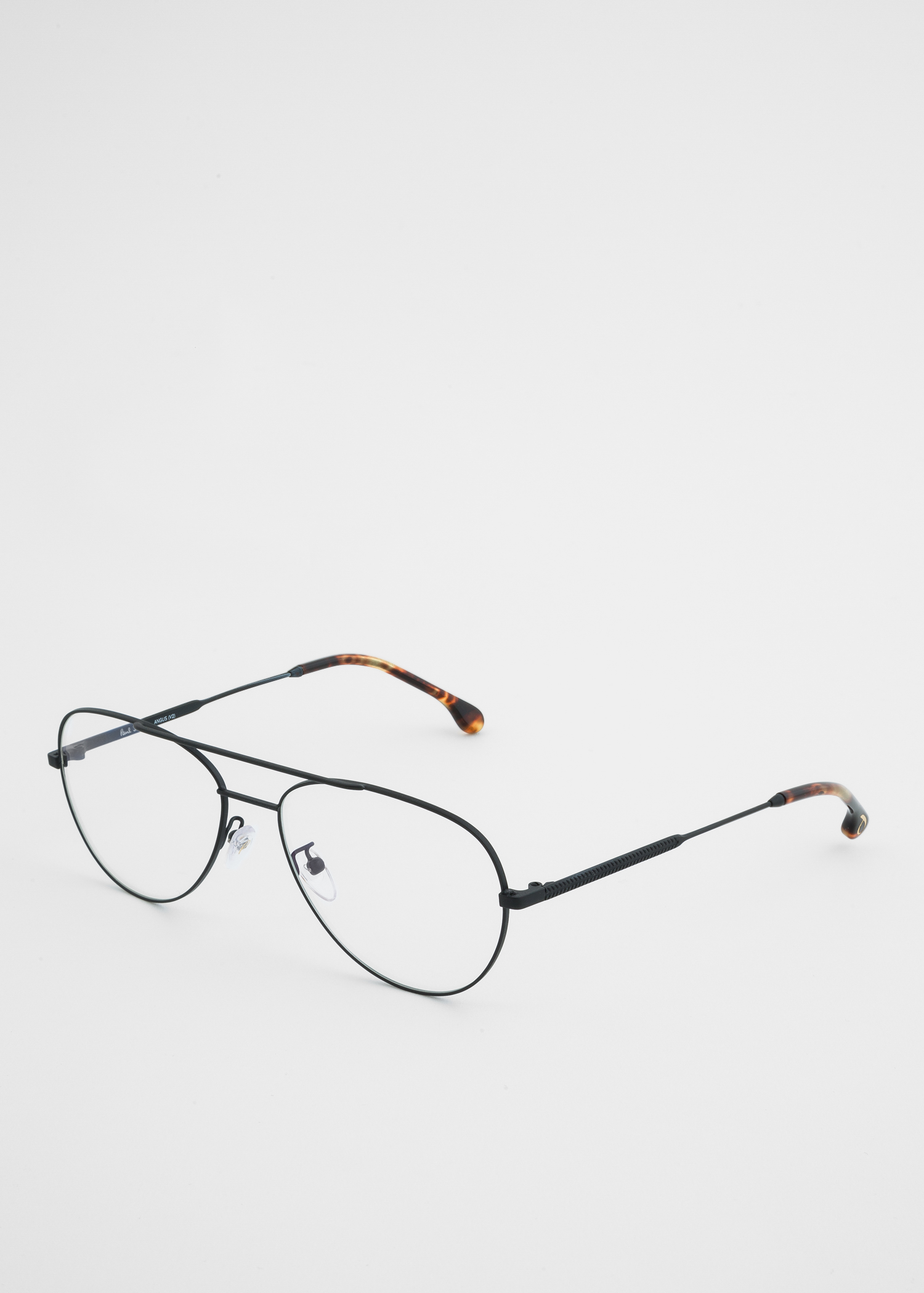 b7afa1e45a angled view - Paul Smith Large Matte Black And Honeycomb Tortoise  Angus   Spectacles Paul