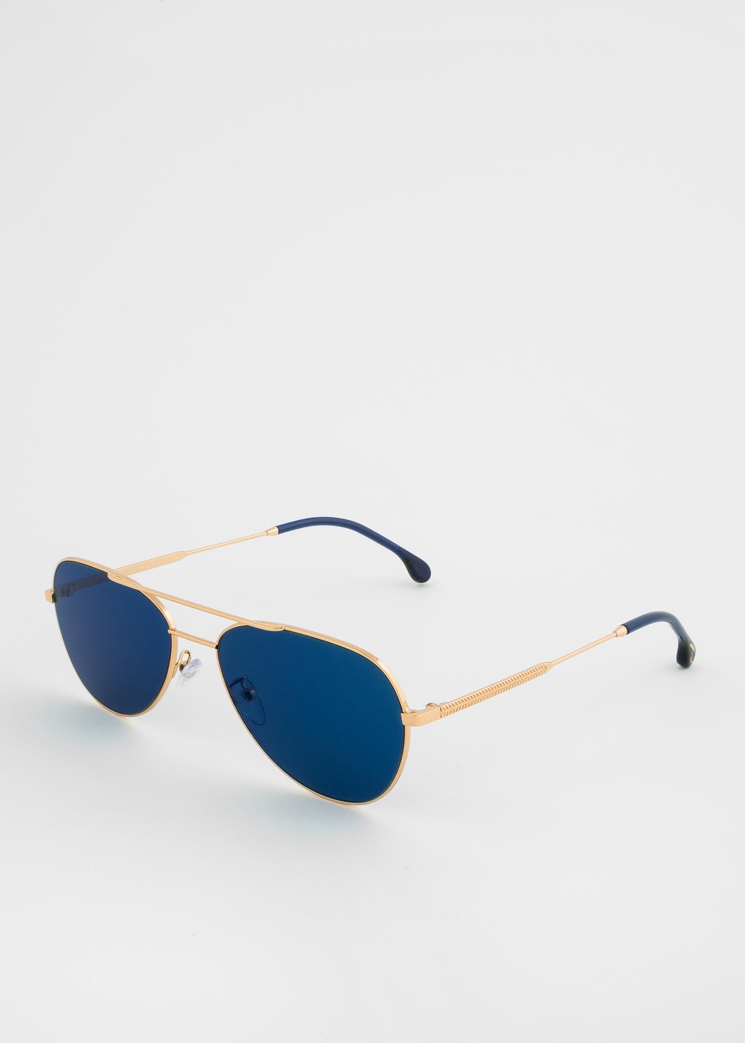 03b7fdcfae Paul Smith Gold And Deep Navy  Angus  Sunglasses - Paul Smith US