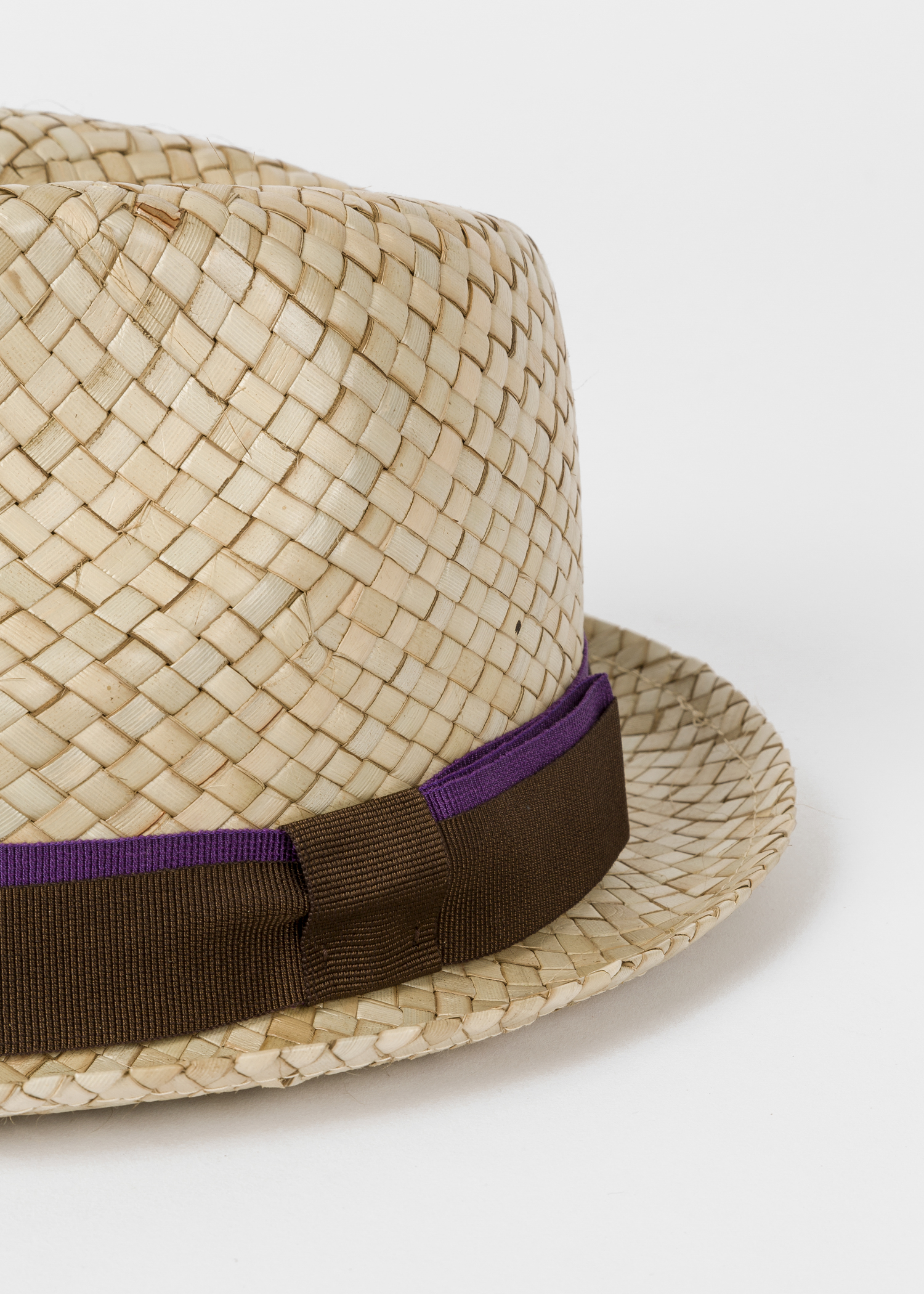 641d3aa1 Close up - Men's Sand Woven Trilby Hat Paul Smith