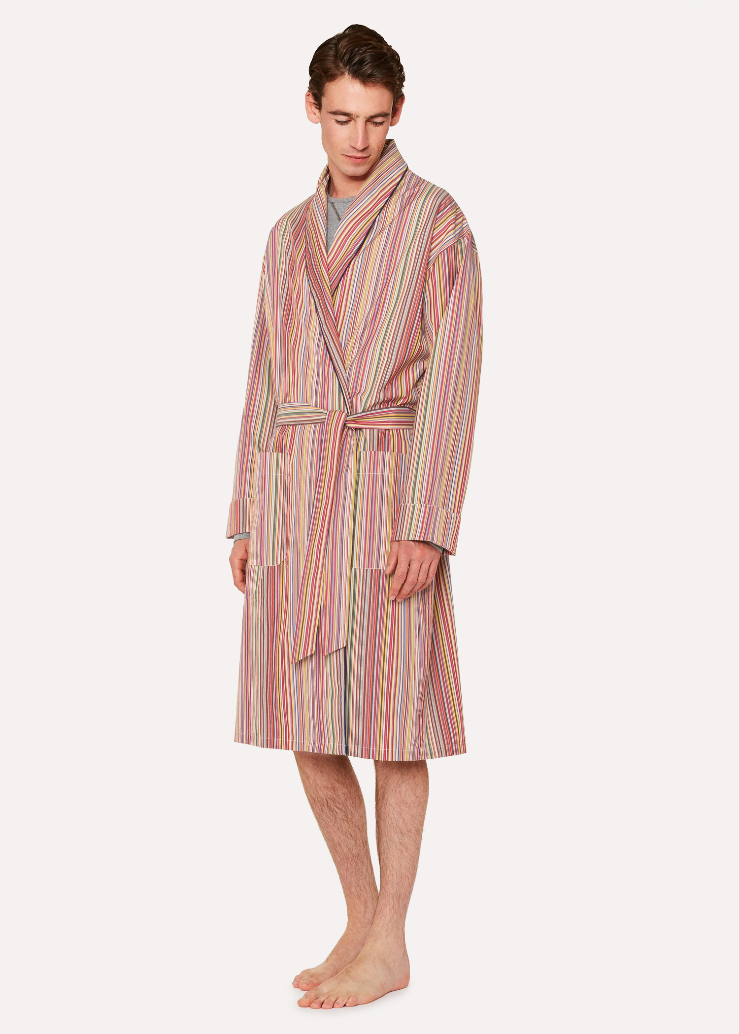 7dc2b85131 Men s Signature Stripe Cotton Dressing Gown - Paul Smith US