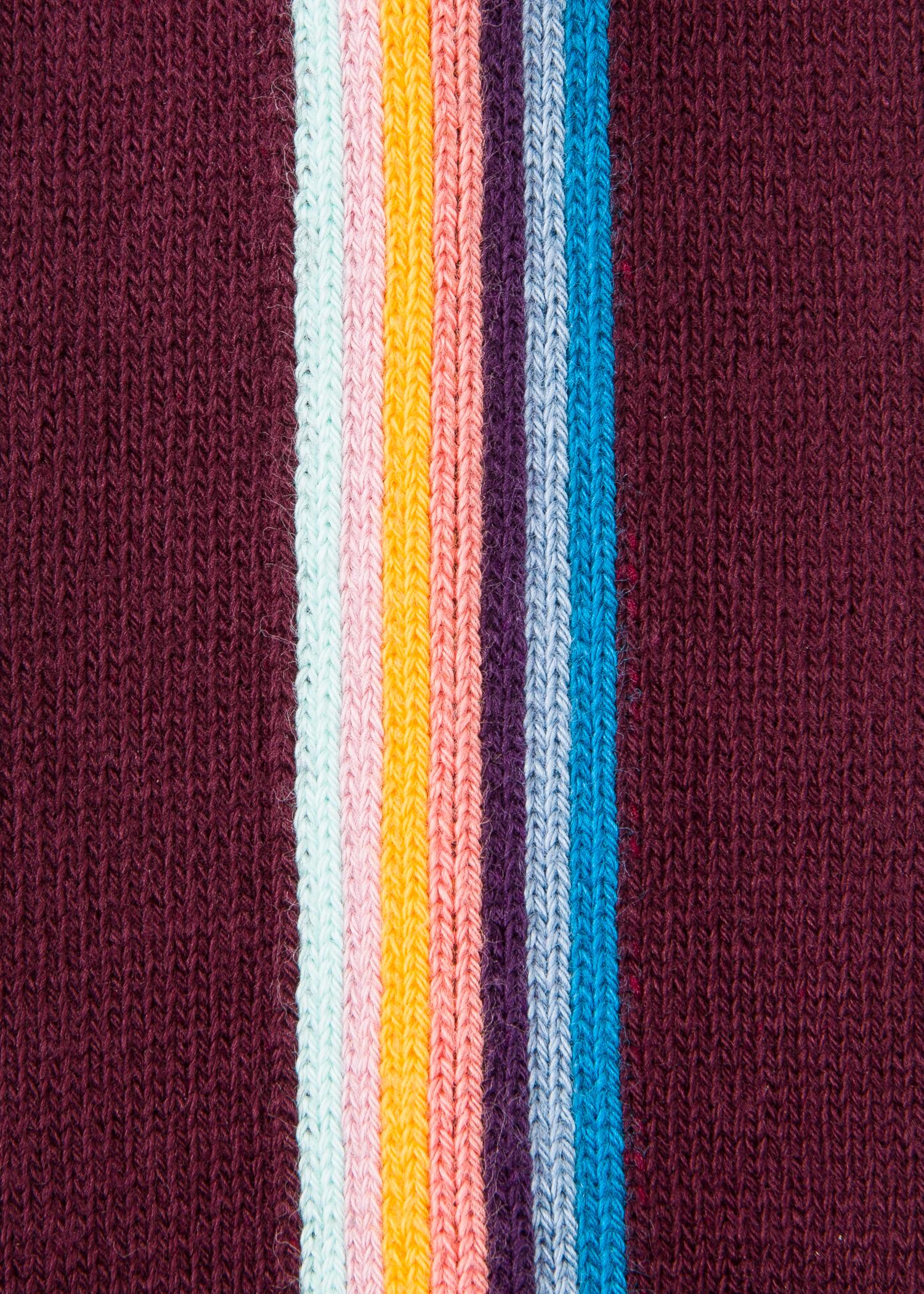 2814104c8 Men's Burgundy Vertical 'Artist Stripe' Socks
