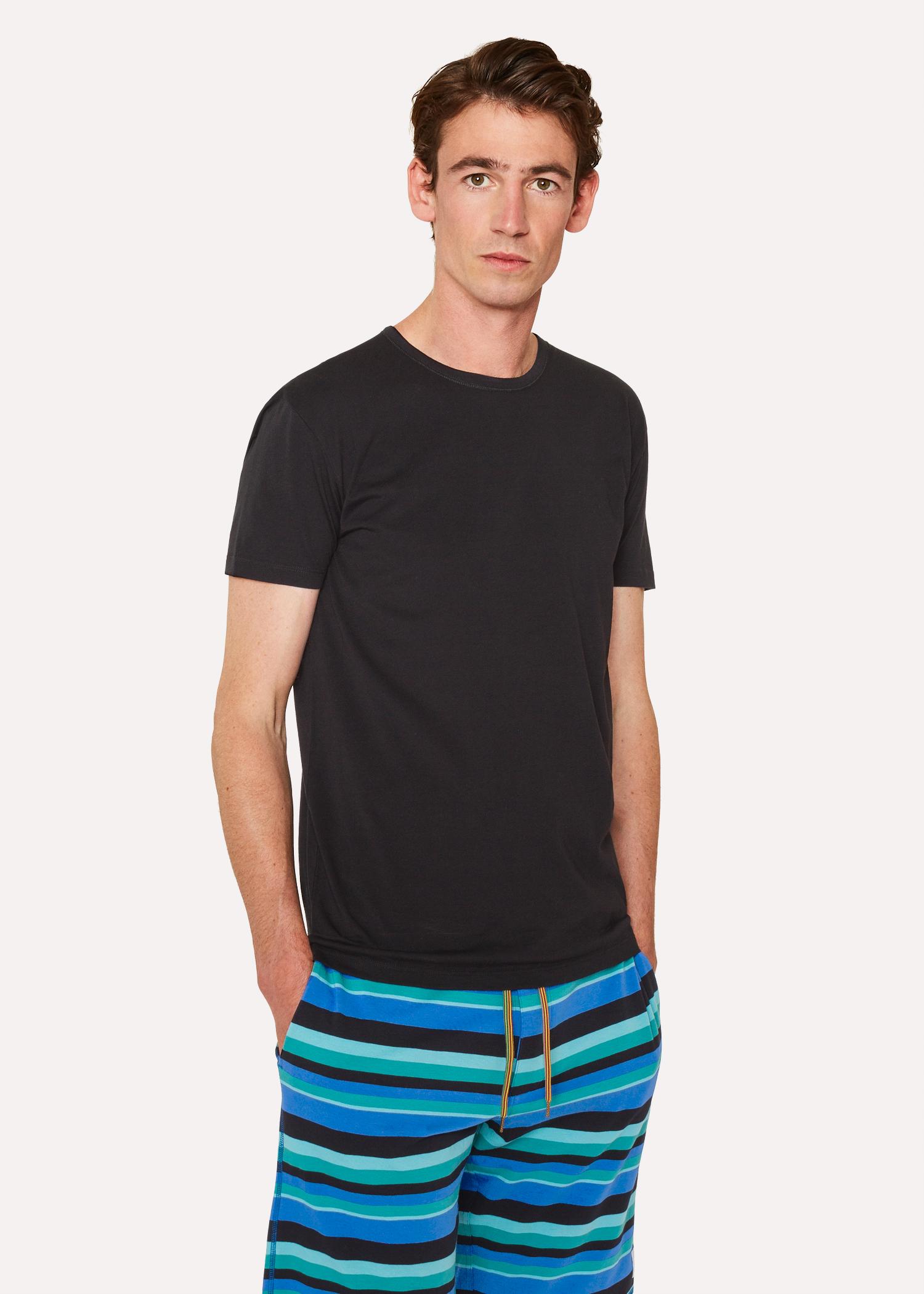 maillot de corps homme noir en coton paul smith francais. Black Bedroom Furniture Sets. Home Design Ideas