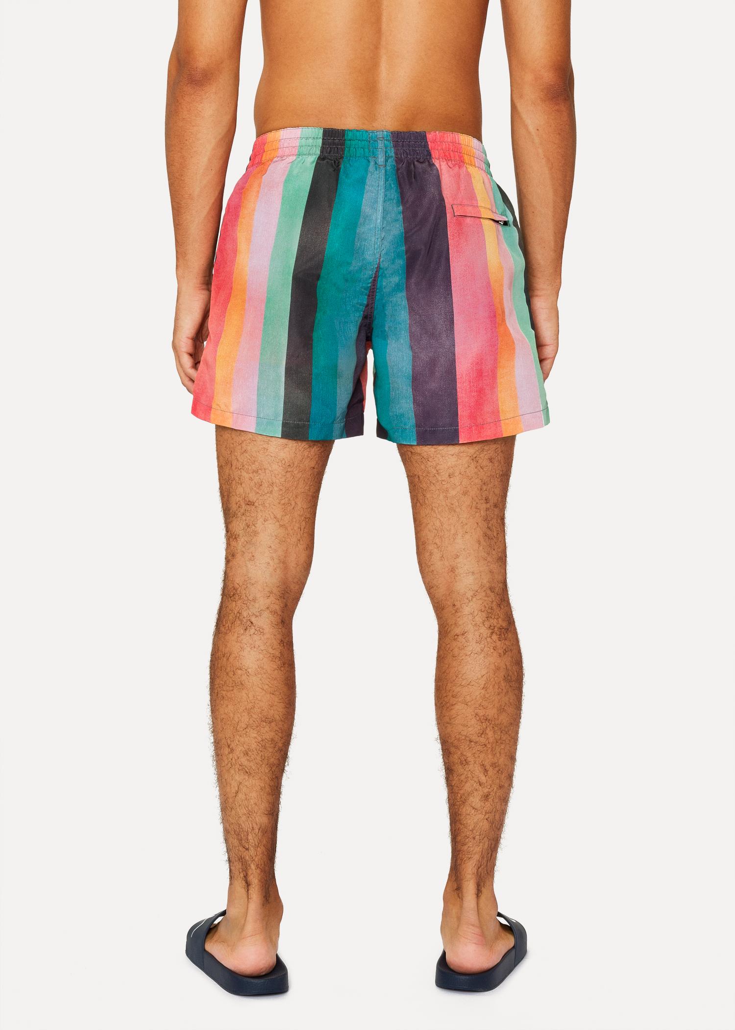 813e60f4e6 Men's 'Artist Stripe' Print Swim Shorts by Paul Smith