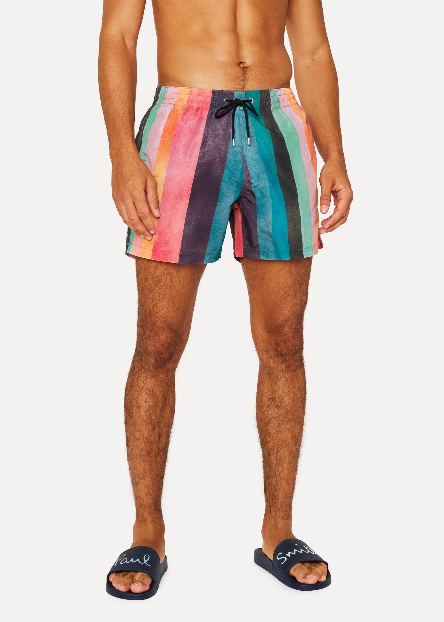 47ac94996a Men's 'Artist Stripe' Print Swim Shorts - Paul Smith