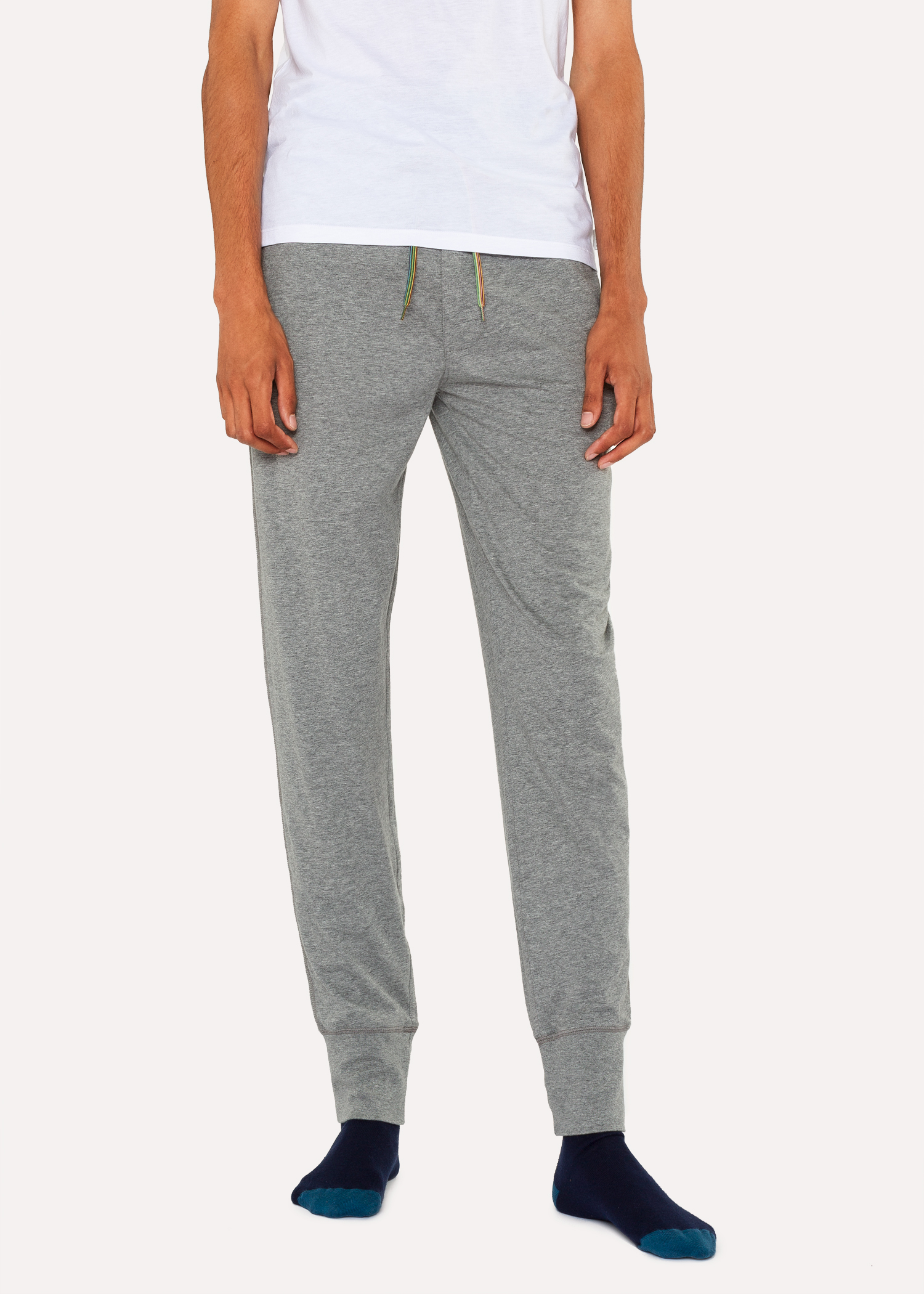 dad42bc6c3b04 Men's Light Grey Jersey Cotton Lounge Pants - Paul Smith US