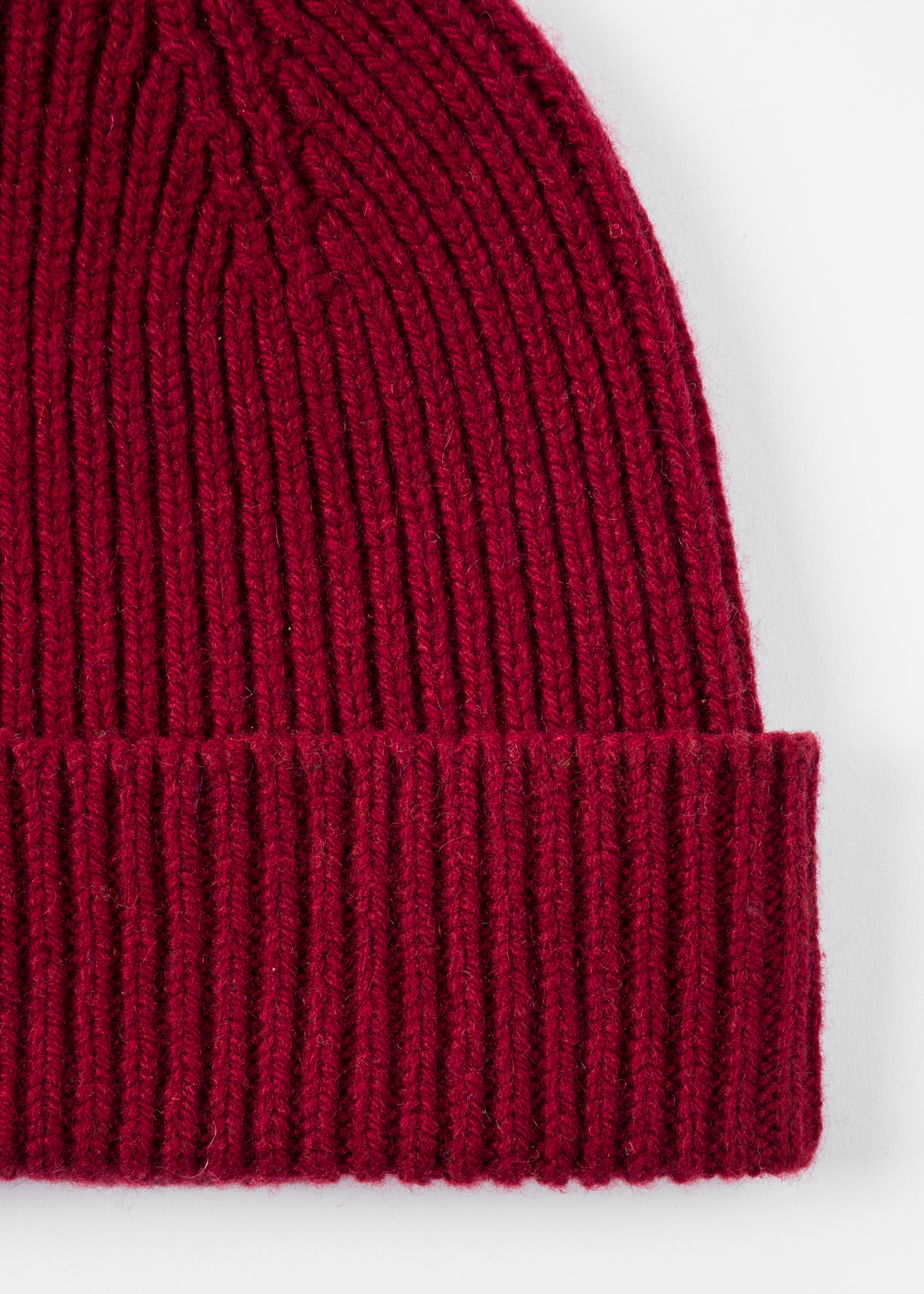 b2e8cedd8e1 Men s Burgundy Cashmere-Blend Beanie Hat - Paul Smith