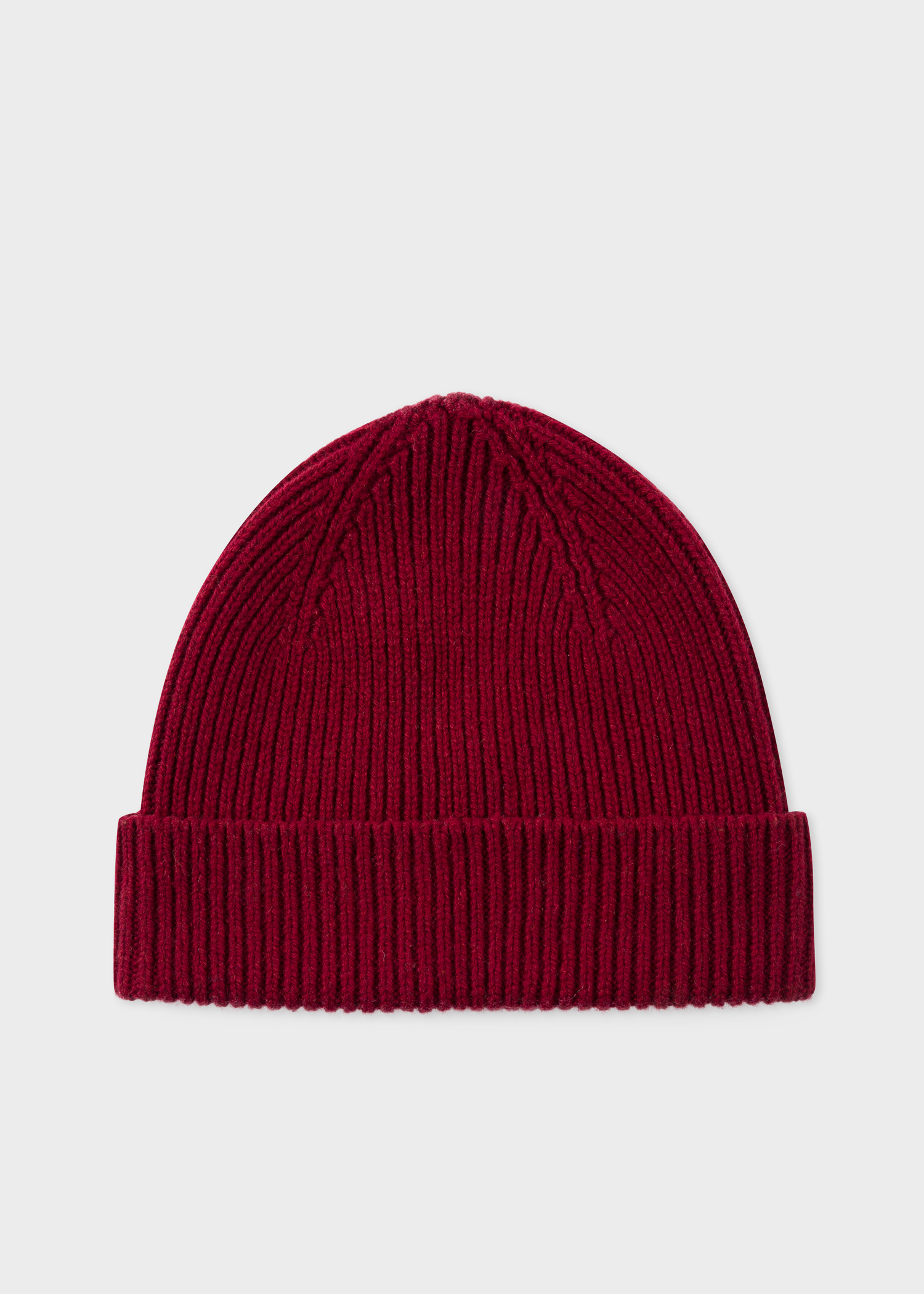 Men s Burgundy Cashmere-Blend Beanie Hat - Paul Smith US 59f2adf4dfd