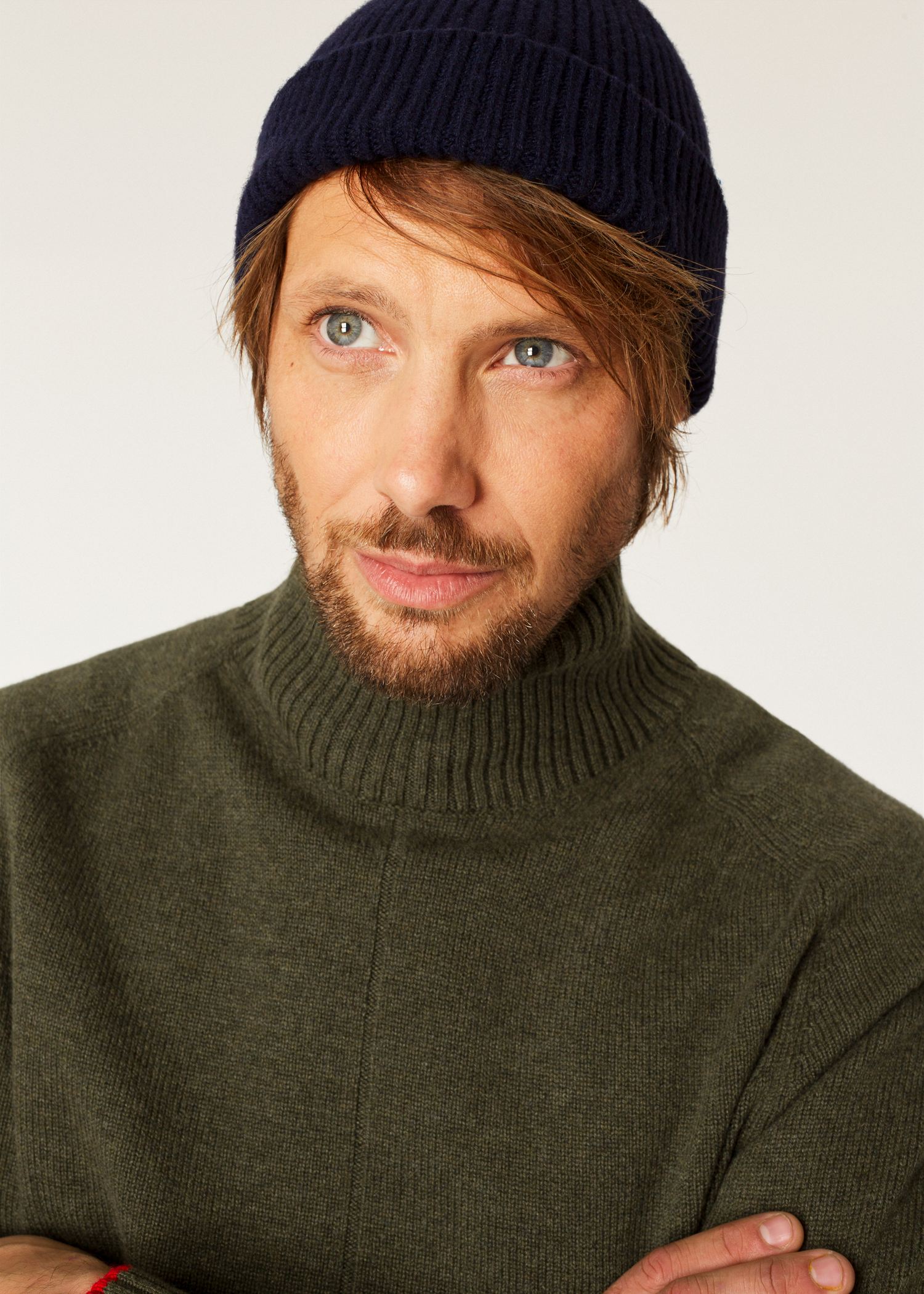 Men s Navy Cashmere-Blend Ribbed Beanie Hat - Paul Smith 7b02ffaeb77