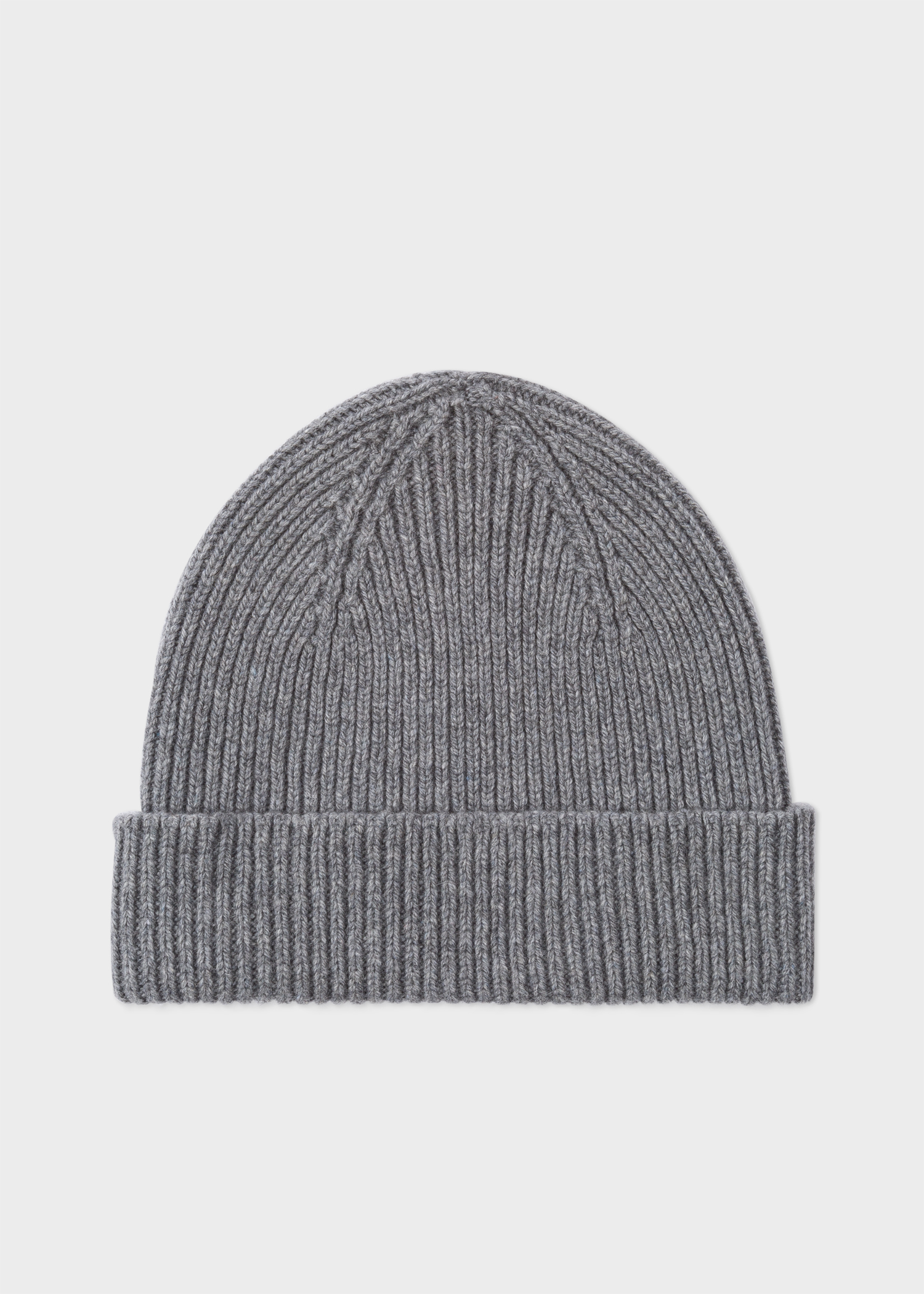Men s Grey Cashmere-Blend Ribbed Beanie Hat - Paul Smith 4ce554a51e2