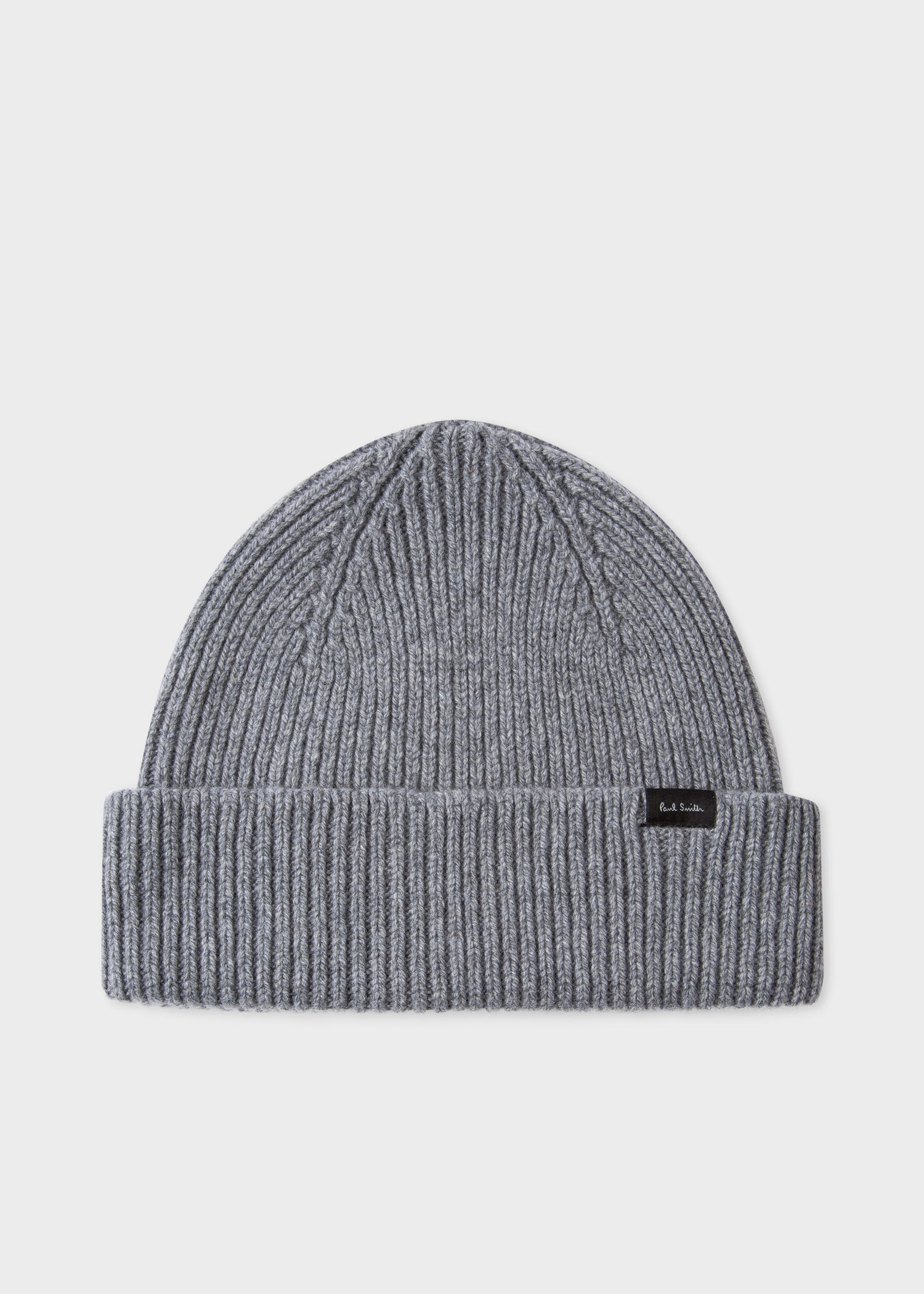 4d686c53 Men's Grey Cashmere-Blend Ribbed Beanie Hat - Paul Smith US