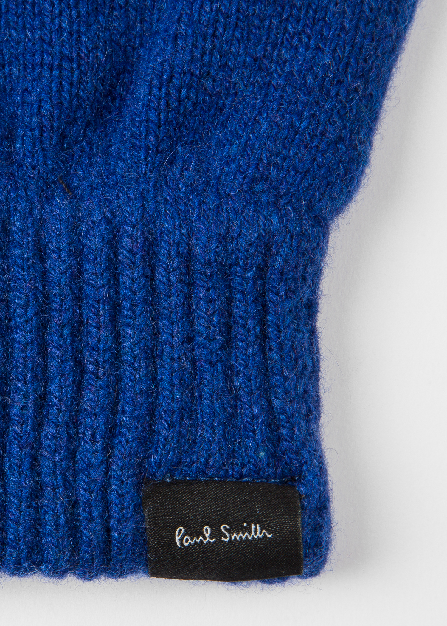 6f53136a2 Men's Blue Cashmere And Merino Wool Gloves