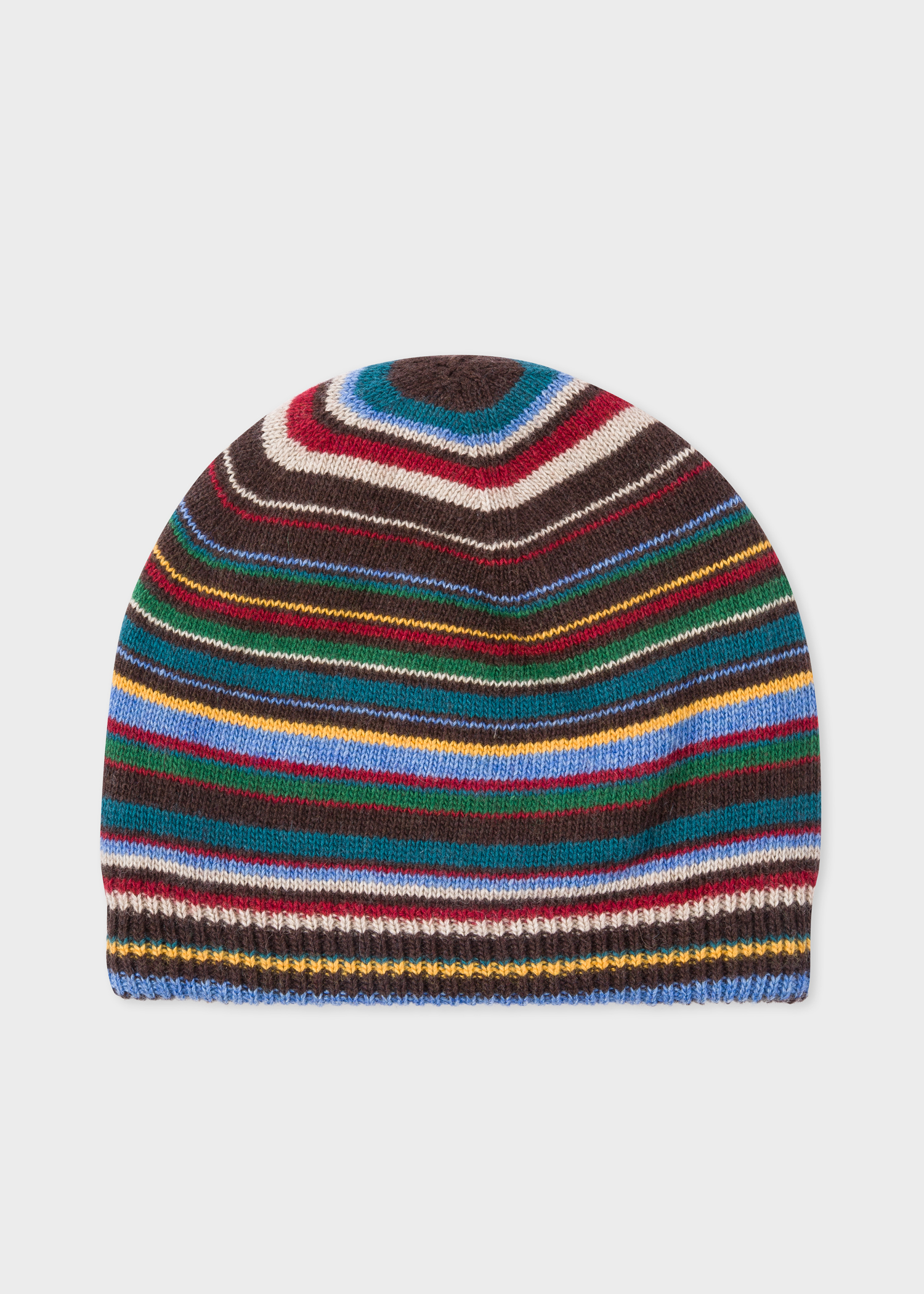 Front view- Men s Signature Stripe Wool-Cashmere Beanie Hat Paul Smith c2bc1bfd38dd