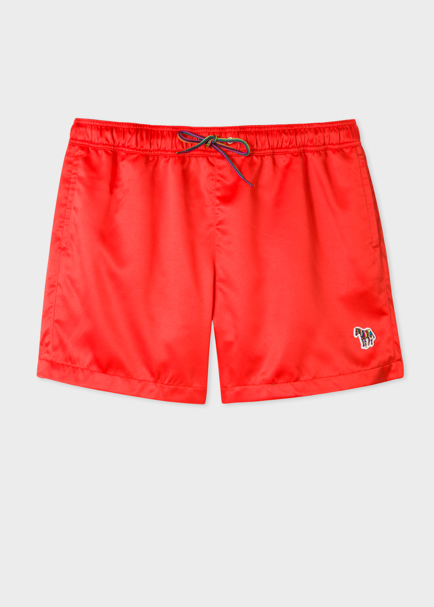 Men S Red Zebra Logo Swim Shorts Paul Smith