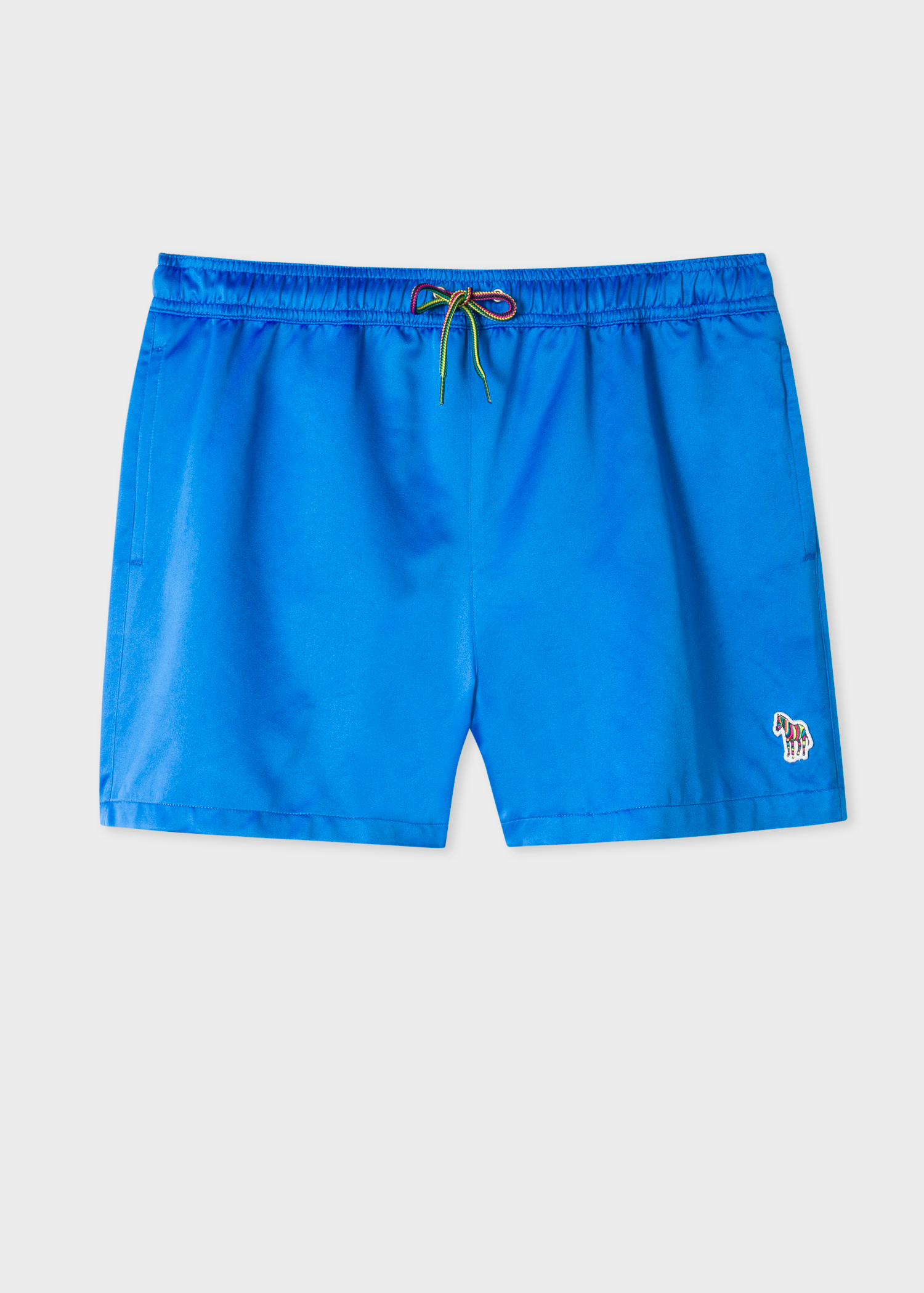79185c5c4c Front view- Men's Blue Zebra Logo Swim Shorts by Paul Smith
