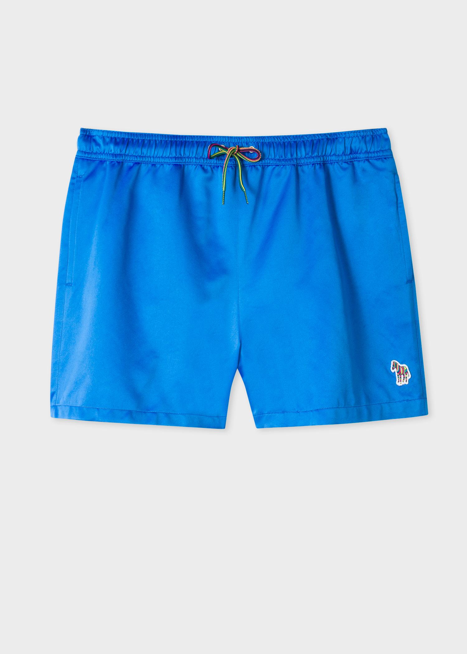 48dddfde79 Front view- Men's Blue Zebra Logo Swim Shorts by Paul Smith