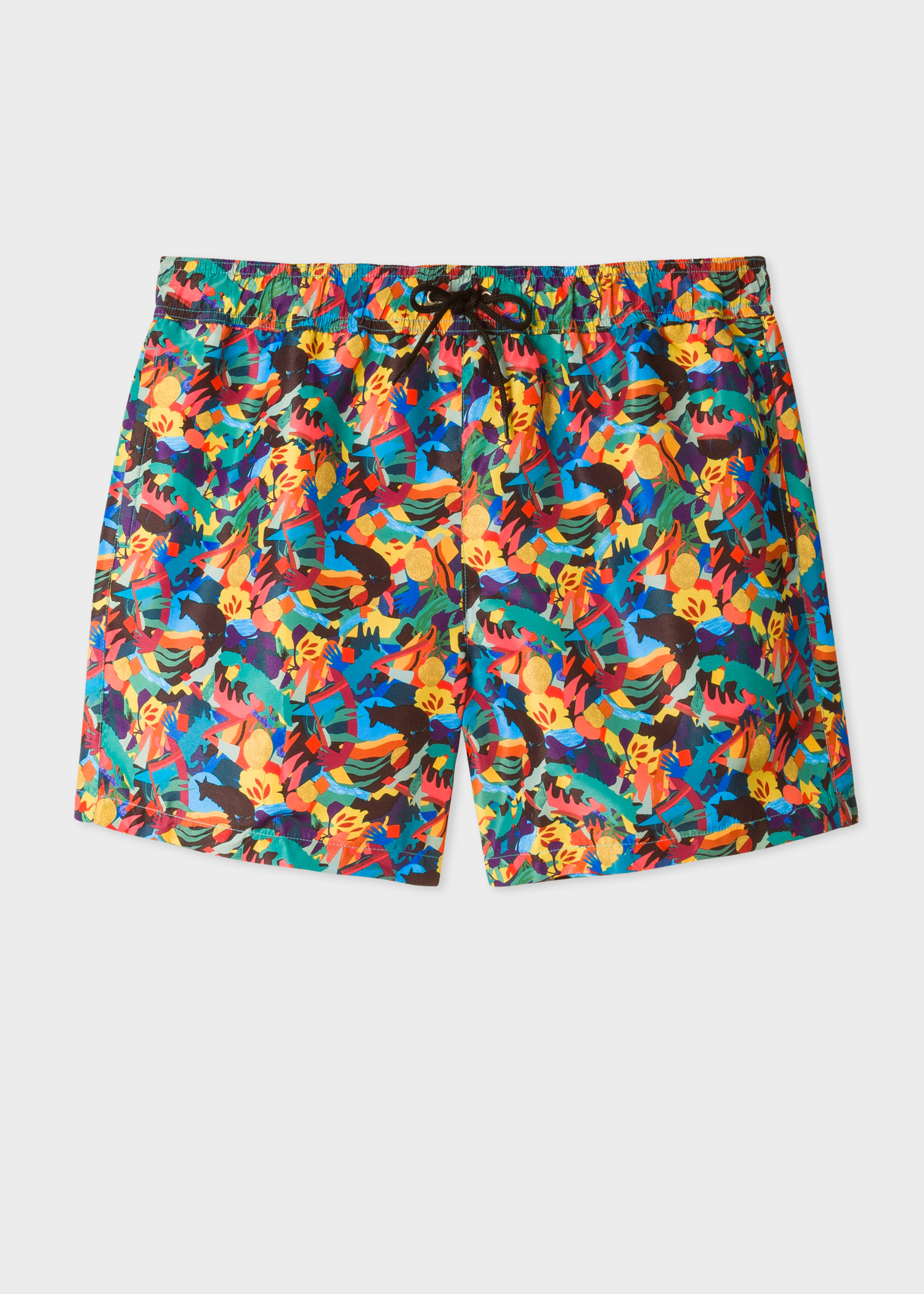 fc3bb7ba9a Front View - Men's Multi-coloured 'Urban Fox And Palm Tree' Print Swim