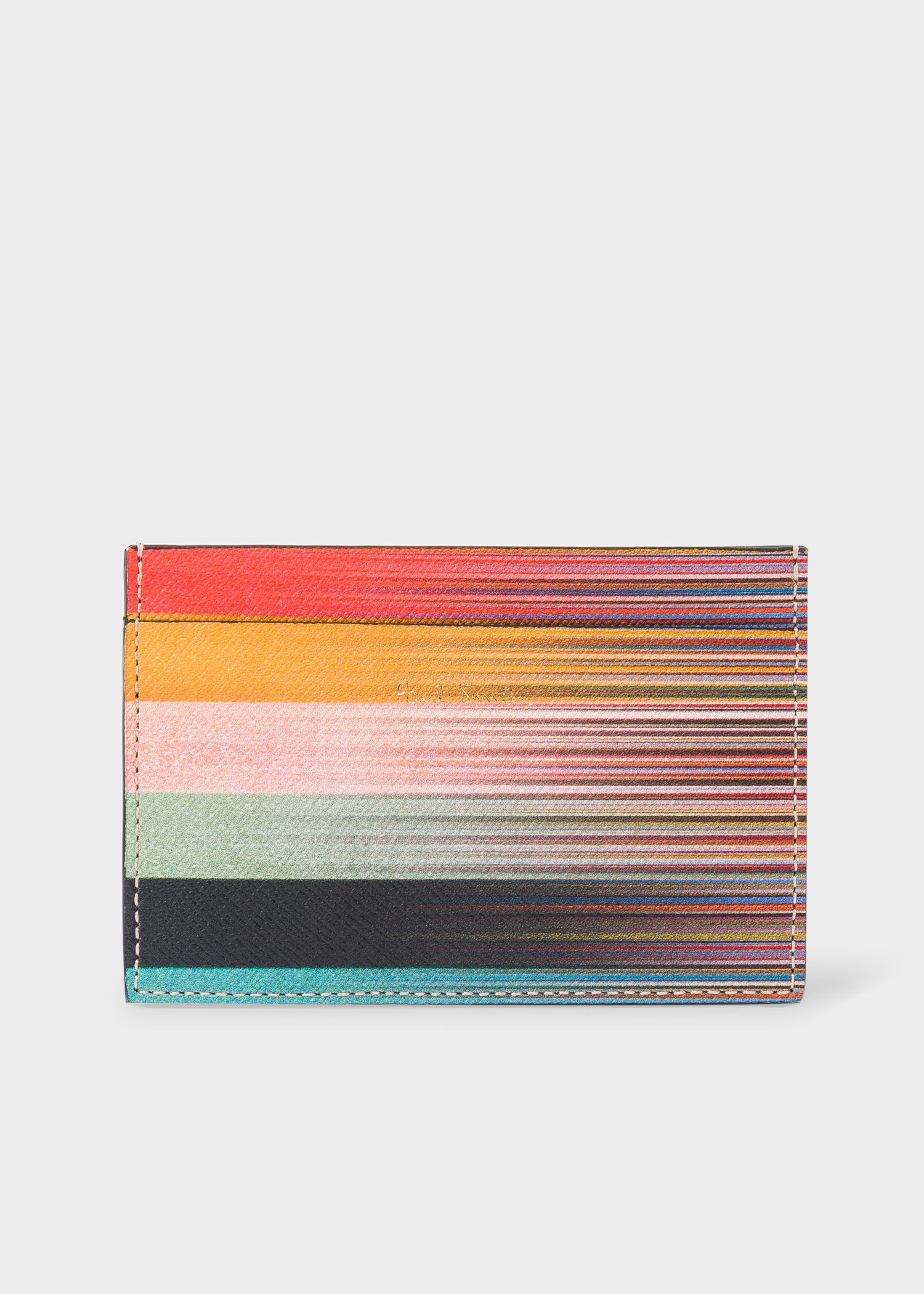 610a3609277b Men's Mixed-Stripe Leather Credit Card Holder - Paul Smith Asia