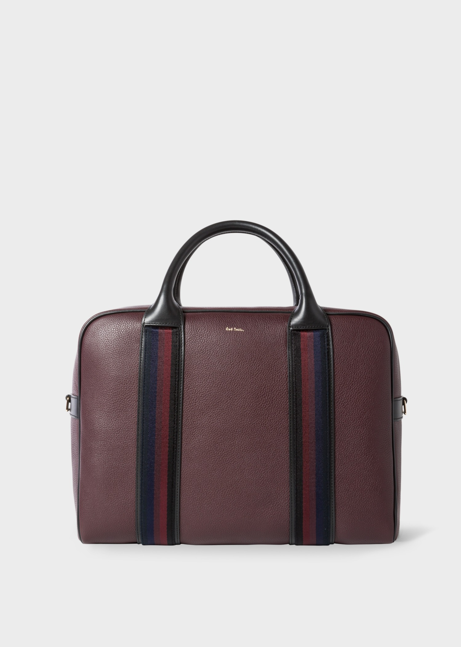 best sneakers 08766 4b703 Men's Burgundy Leather Business Folio With 'City Webbing'